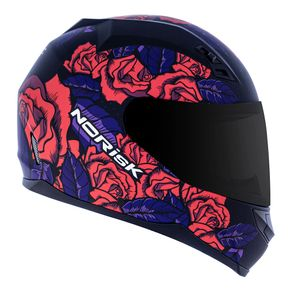 CAPACETE NORISK FF391 STUNT BED OF ROSES ROSA 54/XS